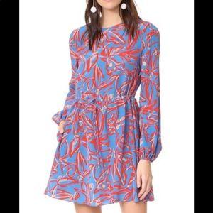 Diane von Furstenberg printed dress.